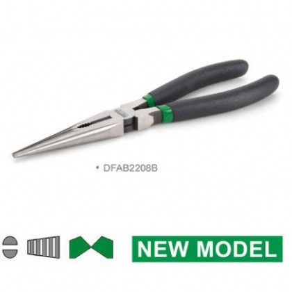 TOPTUL LONG NOSE PLIERS  NEW MODEL (DFAB SERIES)