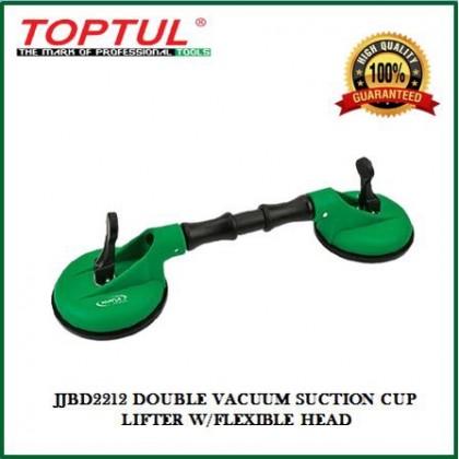 TOPTUL JJBD2212 DOUBLE VACUUM SUCTION CUP LIFTER W/FLEXIBLE HEAD